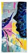 Make A Wish Abstract Art Figure Painting  Bath Towel