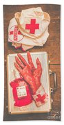 Make Your Own Frankenstein Medical Kit  Hand Towel