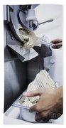 Making Gelato Ice Cream With Modern Machine Bath Towel