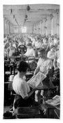 Making Money At The Bureau Of Printing And Engraving - Washington Dc - C 1916 Bath Towel