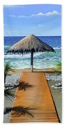 Makry Gialos Beach Bath Towel