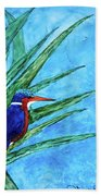 Malachite Kingfisher Bath Towel