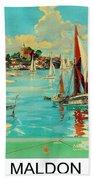 Maldon, England, Sailing Boats Bath Towel