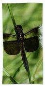 Male Widow Skimmer Dragonfly #4 Bath Towel