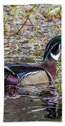 Male Wood Duck Bath Towel