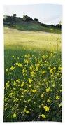 Malibu Creek Wildflowers Bath Towel
