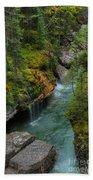 Maligne Canyon Falls Jasper National Park Bath Towel