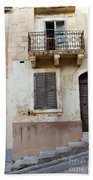 Maltese House On A Steep Street Bath Towel