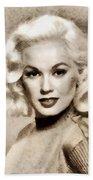 Mamie Van Doren, Vintage Actress And Pinup Bath Towel
