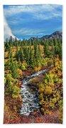 Mammoth Lakes Autumn Falls Bath Towel
