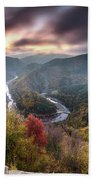 Man Above A River Meander Hand Towel