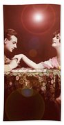 Man Kissing Womans Hand Romantic Couple Bath Towel