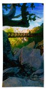 Man On The Bridge Bath Towel