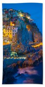 Manarola By Night Bath Towel