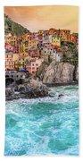 Manarola - Cinque Terre National Park - Liguria - Italy Bath Towel