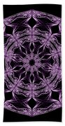 Mandala Purple And Black Bath Towel