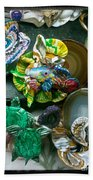 Mandarin Goby Hanging With Emerald Turtles Bath Towel