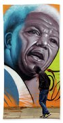 Mandela Watching Bath Towel