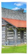 Manistique Schoolcraft County Museum Log Cabin -2158 Bath Towel