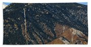Manitou Incline Photographed From Red Rock Canyon Bath Towel