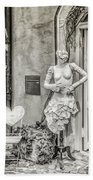 Mannequin On The Street Bw Bath Towel