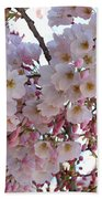 Many Pink Blossoms Bath Towel