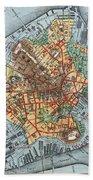 Map: Boston, C1880 Bath Towel