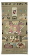 Map: Confederate States Bath Towel
