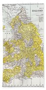 Map: England & Wales Bath Towel