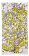 Map: France Bath Towel