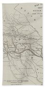 Map Illustrating General Sherman's March Through Georgia  Bath Towel