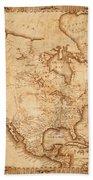 Map Of America 1800 Bath Towel