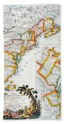 Map Of America, 1779 Bath Towel