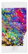 Map Of Arkansas-colorful Bath Towel