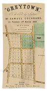 Map Of Auckland 1863b Bath Towel