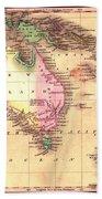 Map Of Australia 1828 Bath Towel