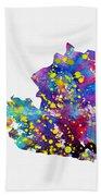 Map Of Austria-colorful Bath Towel