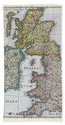 Map Of Britain Bath Towel
