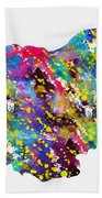 Map Of Bulgaria-colorful Bath Towel