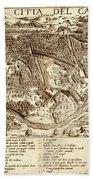 Map Of Cairo 1575 Bath Towel
