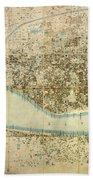 Map Of Calcutta 1857 Bath Towel