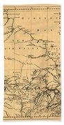 Map Of Canada 1762 Bath Towel
