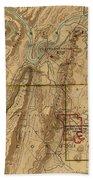 Map Of Chattanooga 1895 Bath Towel