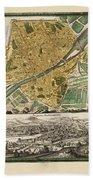 Map Of Florence 1731 Bath Towel