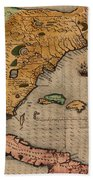 Map Of Florida 1591 Hand Towel