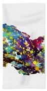 Map Of Georgia-colorful Bath Towel
