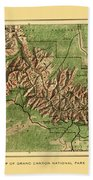 Map Of Grand Canyon 1926 Bath Towel