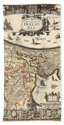 Map Of Holland 1630 Bath Towel