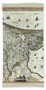 Map Of Holland 1682 Bath Towel