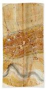 Map Of Imola 1502 Bath Towel